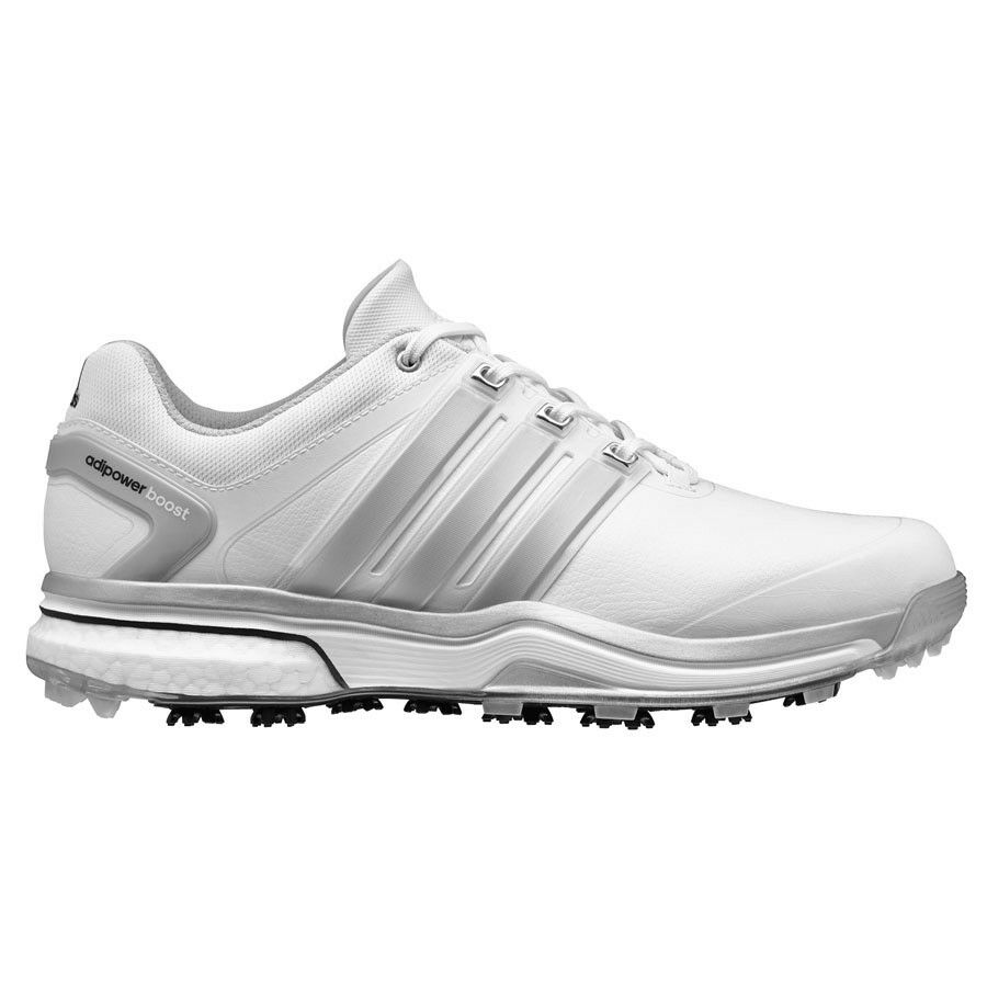 33cf57280f92 Details about NEW MEN S ADIDAS ADIPOWER BOOST WHITE GREY GOLF SHOES  Q46752 Q44540- PICK A SIZE