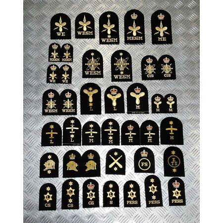 img-Genuine Royal Navy Embroidered Assorted Branch Qualification Badges Various NEW