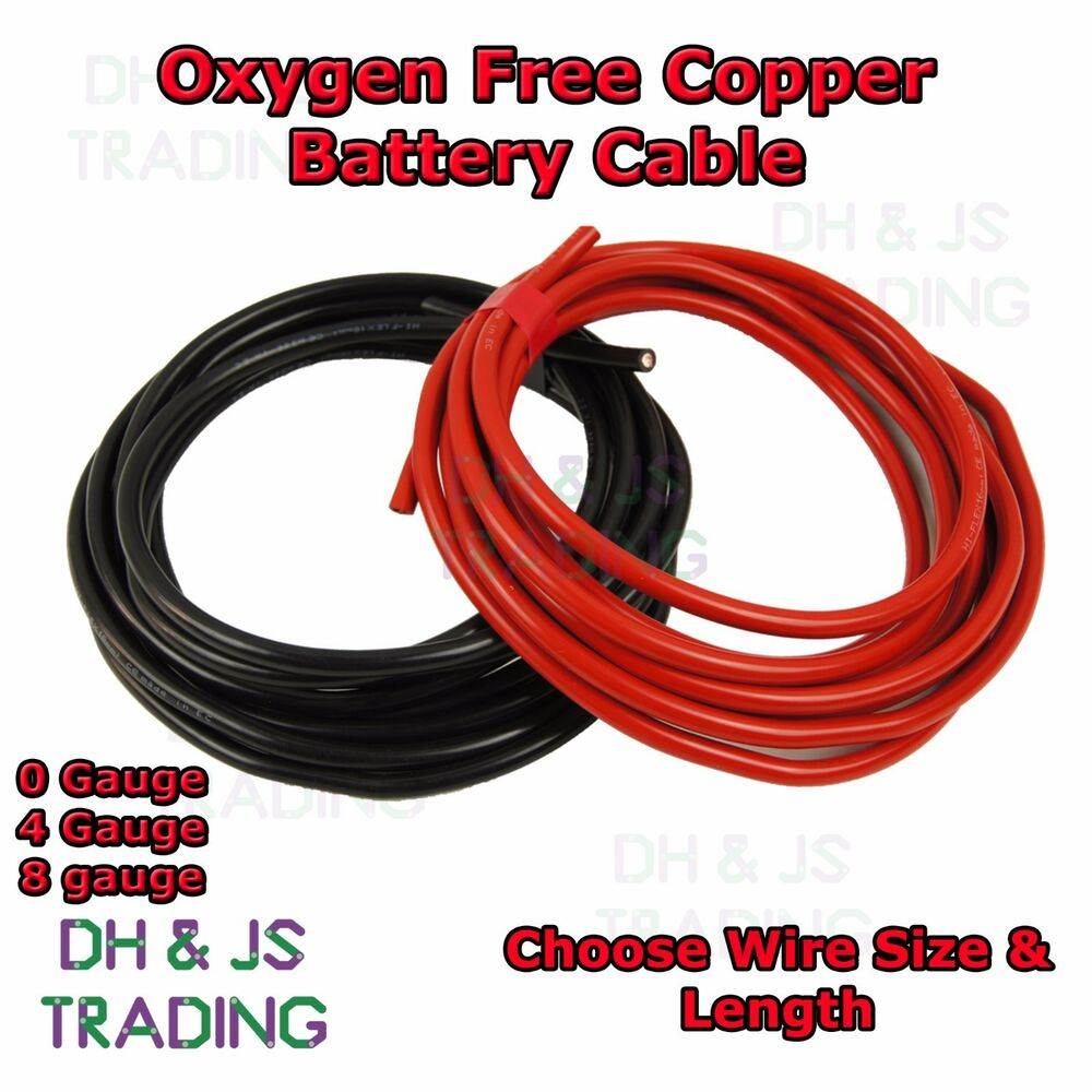 0 4 8 Gauge Battery Earth Power Cable 0AWG 4AWG 8AWG Oxygen Free ...
