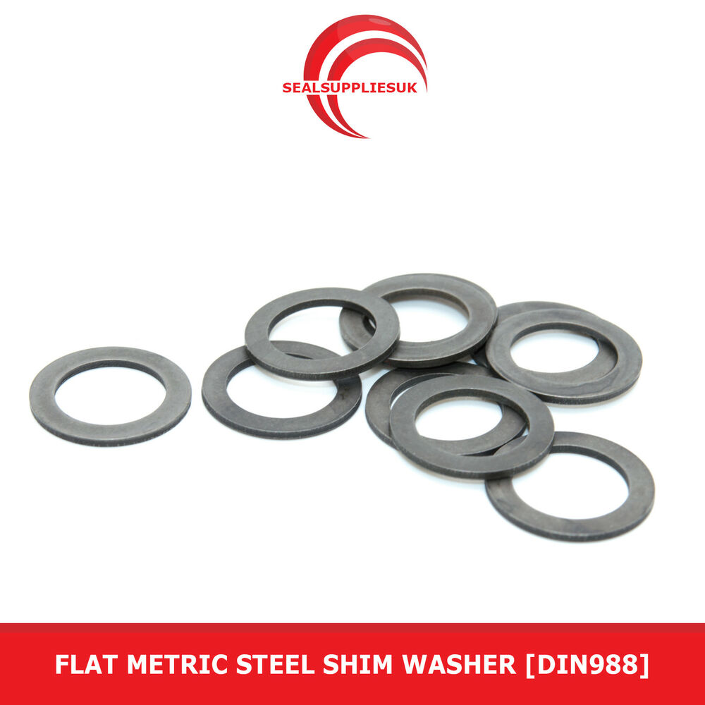 Flat Metric Steel Shim Washer DIN988 0.5mm Thickness