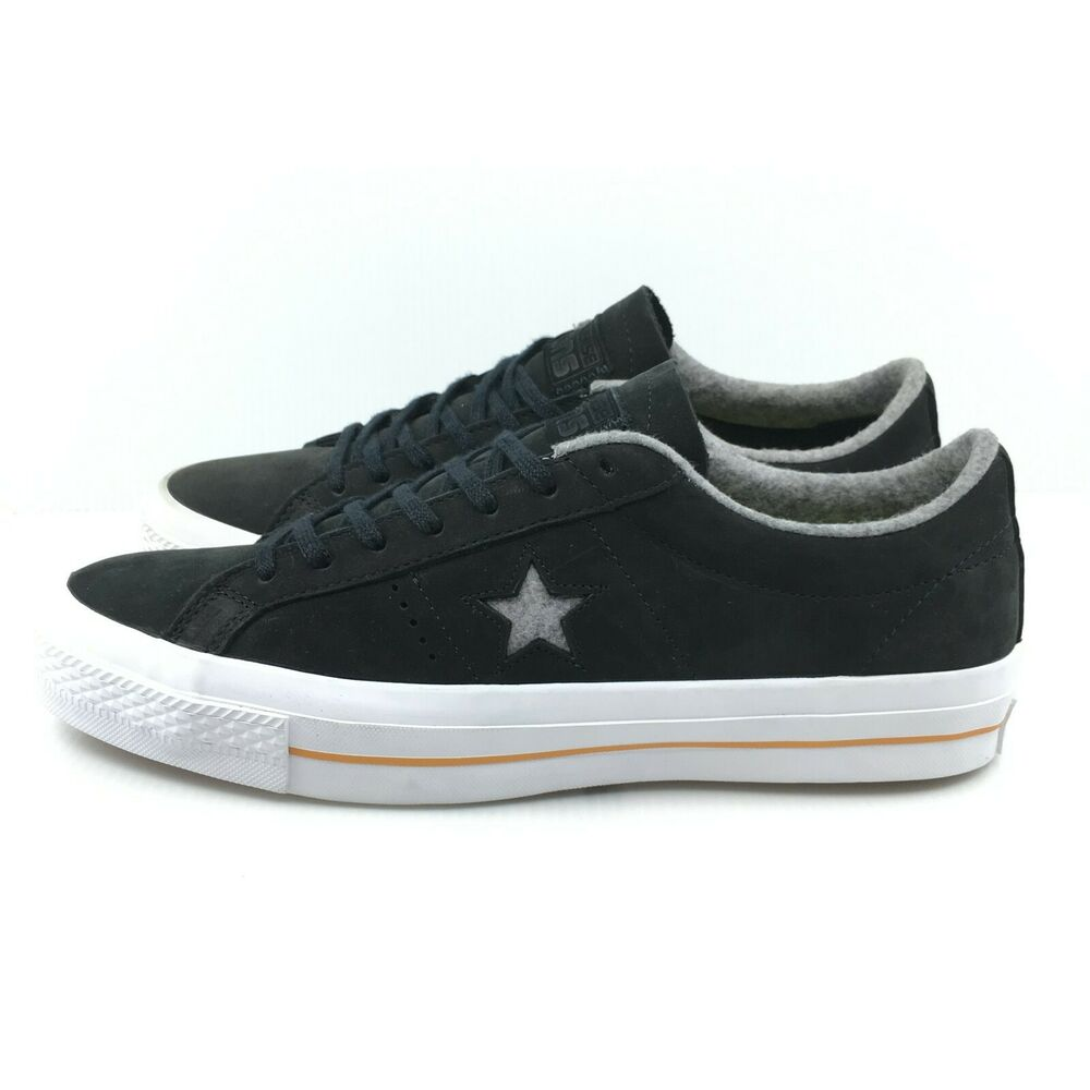 03ac58577921 Details about Converse One Star Nubuck Ox Black Ash Grey Gum White 153717C