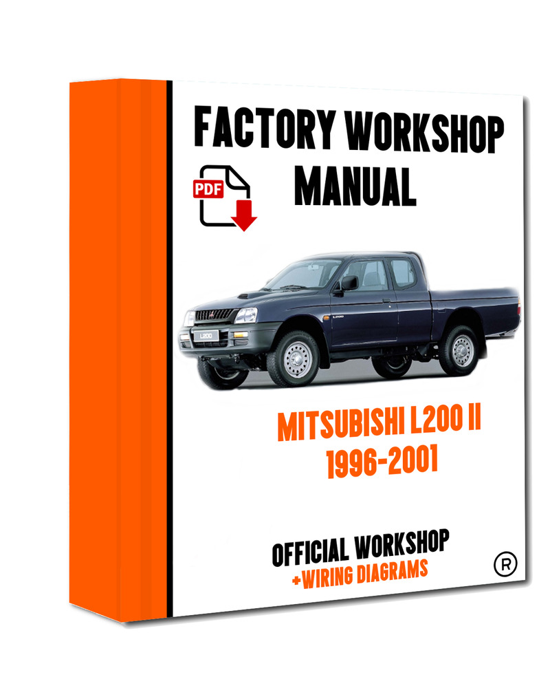 Official Workshop Manual Service Repair Mitsubishi L200 1996 2001 Wiring Diagram 7625694621046 Ebay