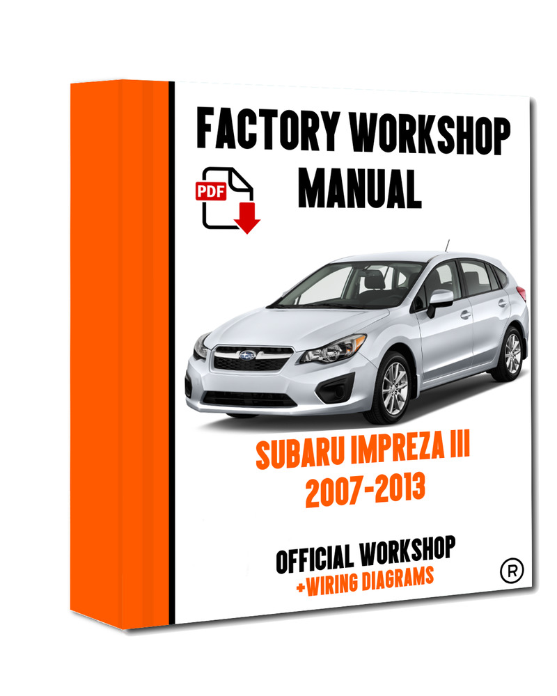 Official Workshop Manual Service Repair Subaru Impreza Xv 2007 2013 Wiring Diagram 7625694644717 Ebay