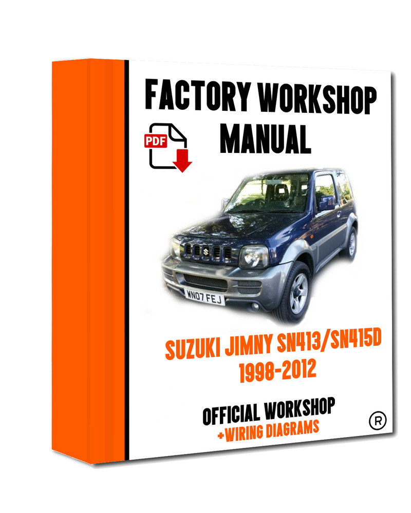 >> OFFICIAL WORKSHOP Manual Service Repair Suzuki Jimny SN413/SN415D 1998-  2012 7625694497054 | eBay