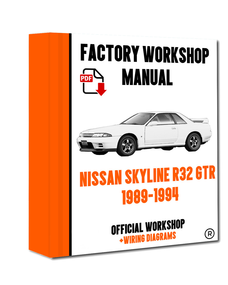 >> OFFICIAL WORKSHOP Manual Service Repair Nissan Skyline R32 1989 - 1994  7625694574724 | eBay