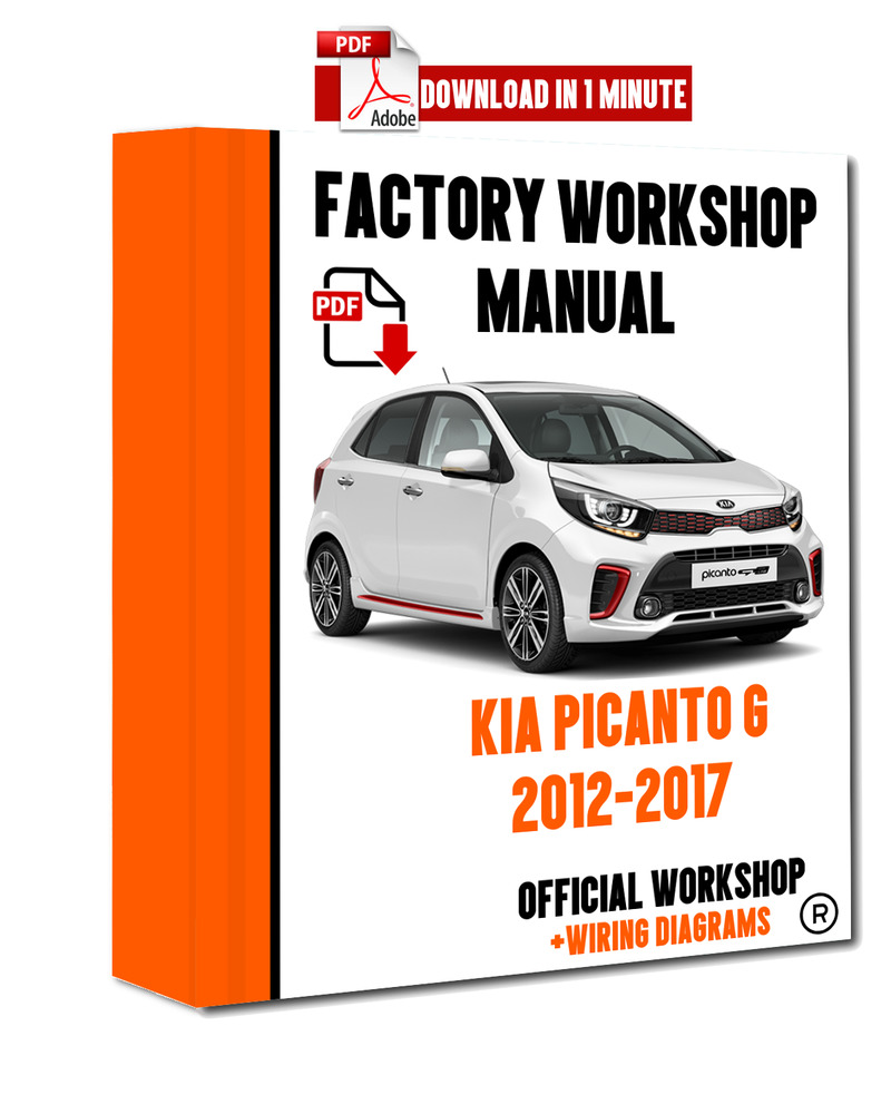 details about >> official workshop manual service repair kia picanto g ii  2012 - 2017  >>