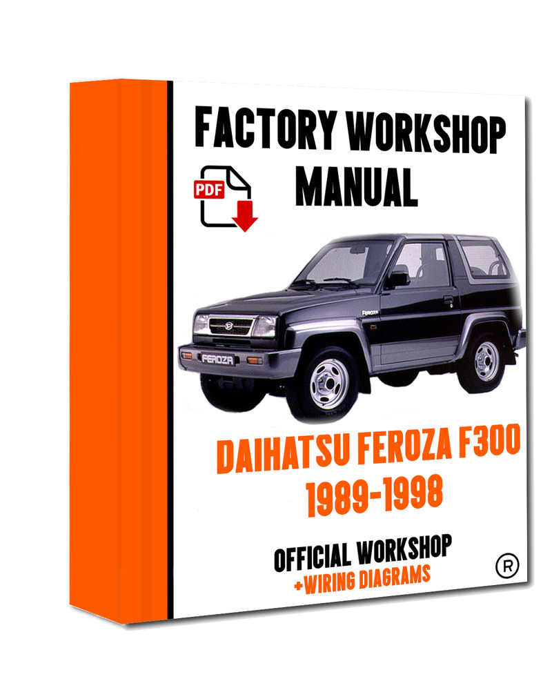 Daihatsu Feroza Wiring Diagram Switch Charade Stereo Official Workshop Manual Service Repair F300 1989 Rh Ebay Co Uk Radio