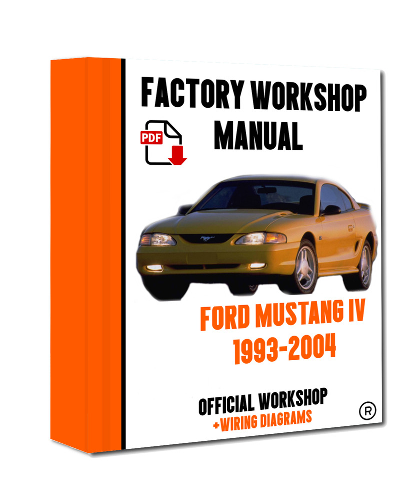 >> OFFICIAL WORKSHOP Manual Service Repair Ford Mustang IV 1993 - 2004  7625694294288 | eBay