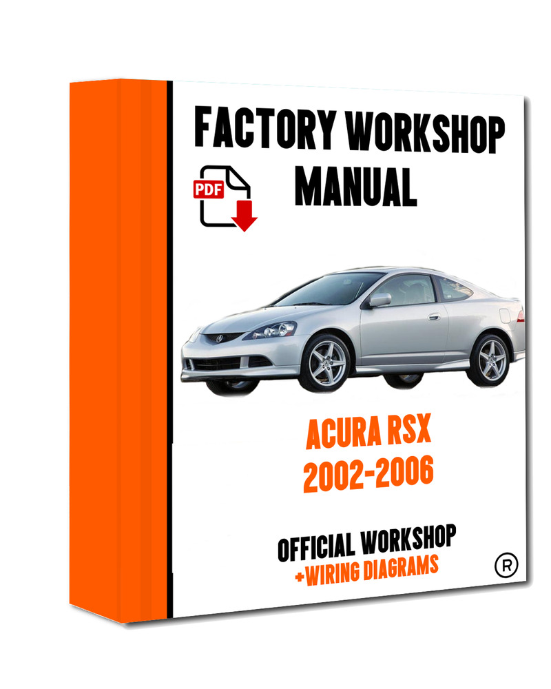 >> OFFICIAL WORKSHOP Manual Service Repair Acura RSX 2002 - 2006  7625694390379 | eBay