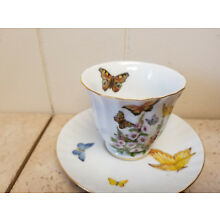 Collectible Fielder Keepsakes Fine Porcelain Butterfly Cup and Saucer Set