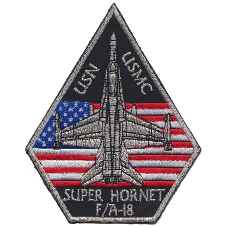 img-USMC F/A-18 Super Hornet Fighter Jet Embroidered Patch ** LAST FEW **