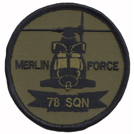 img-No 78 Squadron Royal Air Force RAF Merlin Force Embroidered Patch - LAST FEW