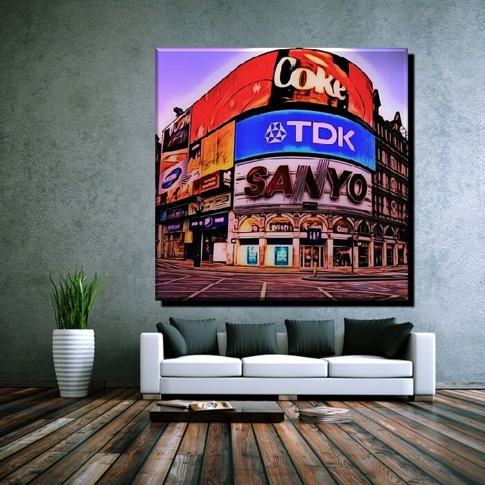 POSTER POP ART PICCADILLY CIRCUS LONDON SOHO CITY ENGLAND 40x40