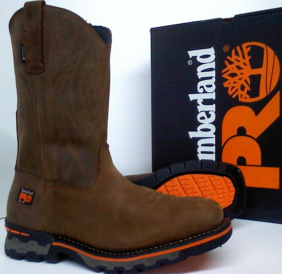 f5e14aa9422a Details about Timberland PRO AG Boss Soft Toe Work Boots - Waterproof -  Square Toe - TB0A172P