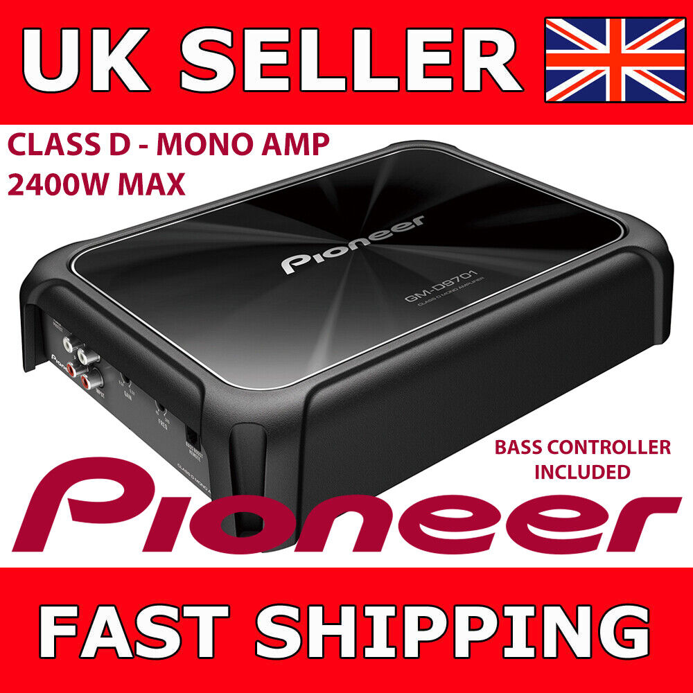 Pioneer 2400 Watt Mono Bass Amplifier Gm D9601 Class D With Vibe Slick 4 Gauge 2000w Wiring Kit Car Amp Power Cable Wire Controller Ebay