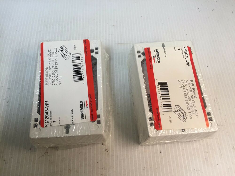NM2048-WH Wiremold Sure Snap 1-Gang Deep Device Box NM2048WH QTY of ...