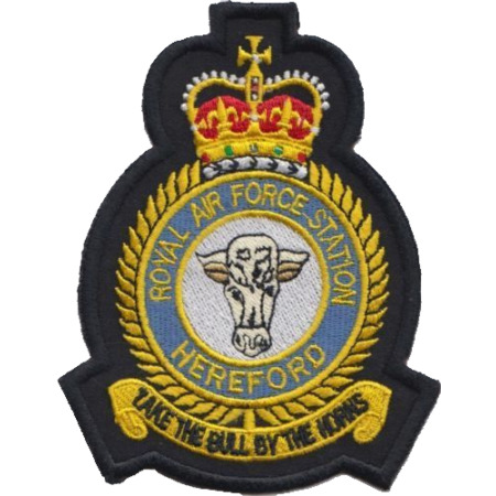 img-RAF Hereford Royal Air Force MOD Crest Embroidered Patch