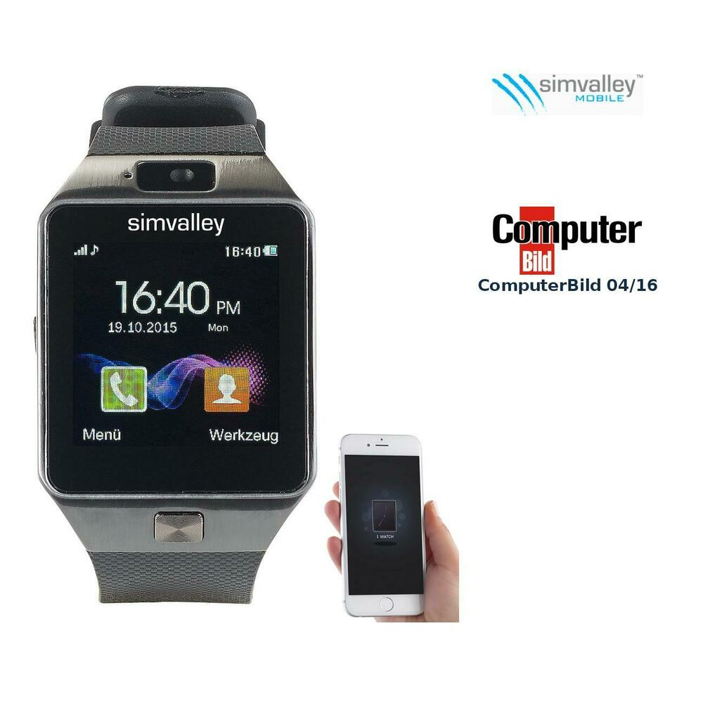 handyuhr 1 5 handy uhr smartwatch pw mit bluetooth 3 0 und fotokamera ebay. Black Bedroom Furniture Sets. Home Design Ideas