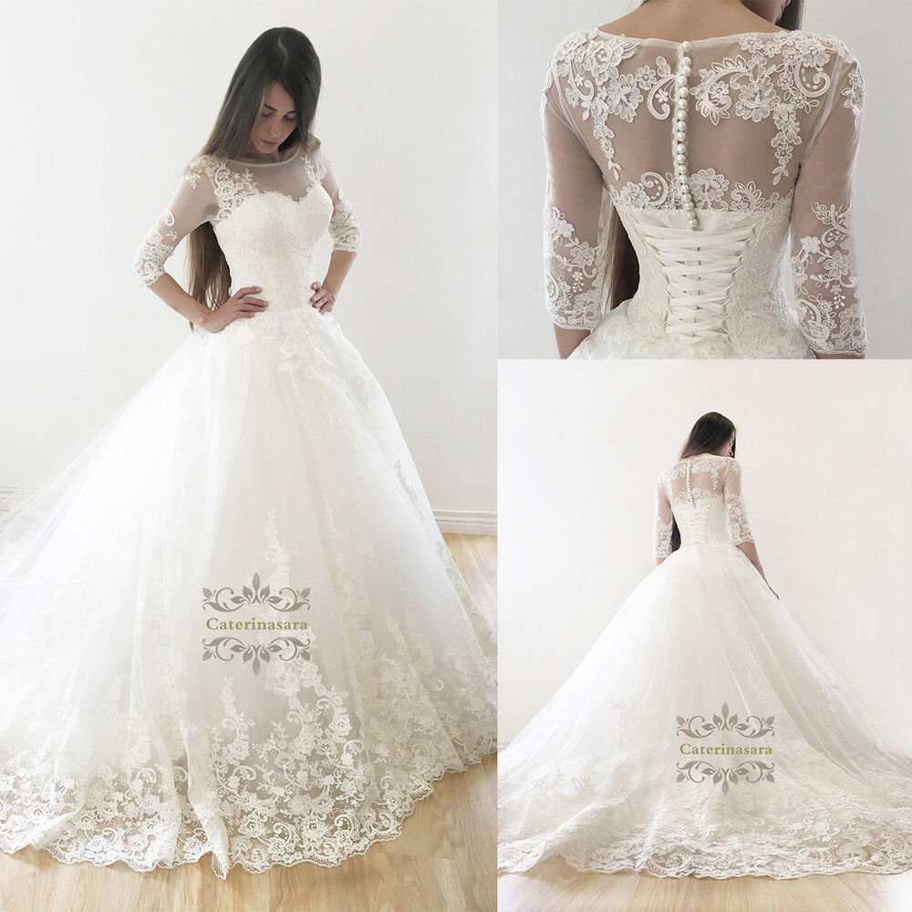 Bridal Gown Wedding Dress: Bridal Ball Gown Wedding Dress With A Beaty French Lace