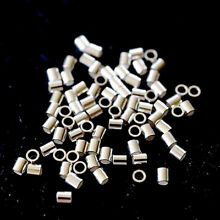 2x2mm sterling silver Jewelry making Tube crimp beads 20/50/100pcs FREE SHIPPING