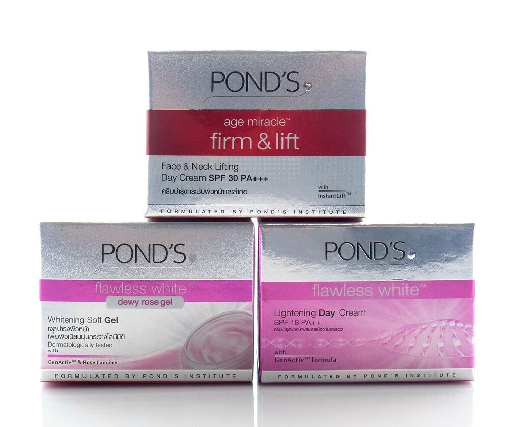 10g Ponds Age Miracle Firm Lift Flawless White Gel And Cream Londs Night Whitening Soft Ebay