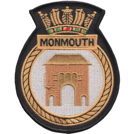 img-HMS Monmouth Royal Navy RN Surface Fleet Crest MOD Embroidered Patch