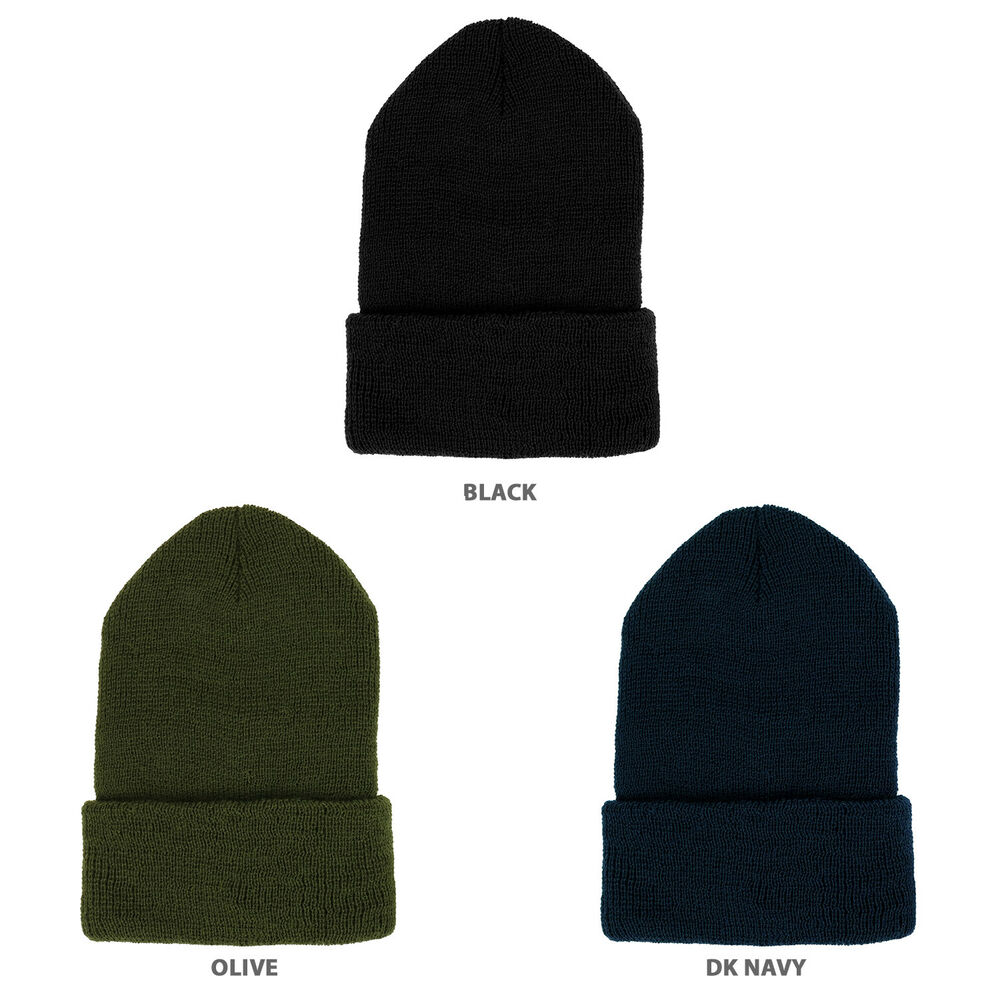 Details about Kid s Made In USA Government Issue Watch Wool Cuff Long Beanie  Hat - FREE SHIP 9a81e93b1ce
