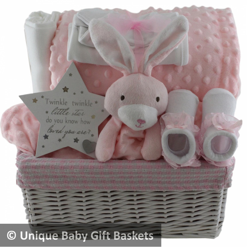9e0ff19adc53 Details about Beautiful baby gift Basket Hamper with toy and wrap set baby  shower nappy cake