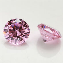 100pcs 0.8~10.0mm Round Shape Pink 5A loose cz stone cubic zirconia gemstone