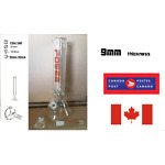 Canadian seller 9MM thickness high quality bong waterpipe  hookah12in tall