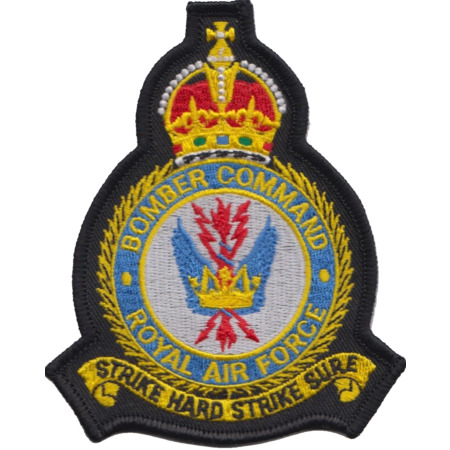 img-RAF Bomber Command Royal Air Force 1936 to 1952 MOD Crest Embroidered Patch