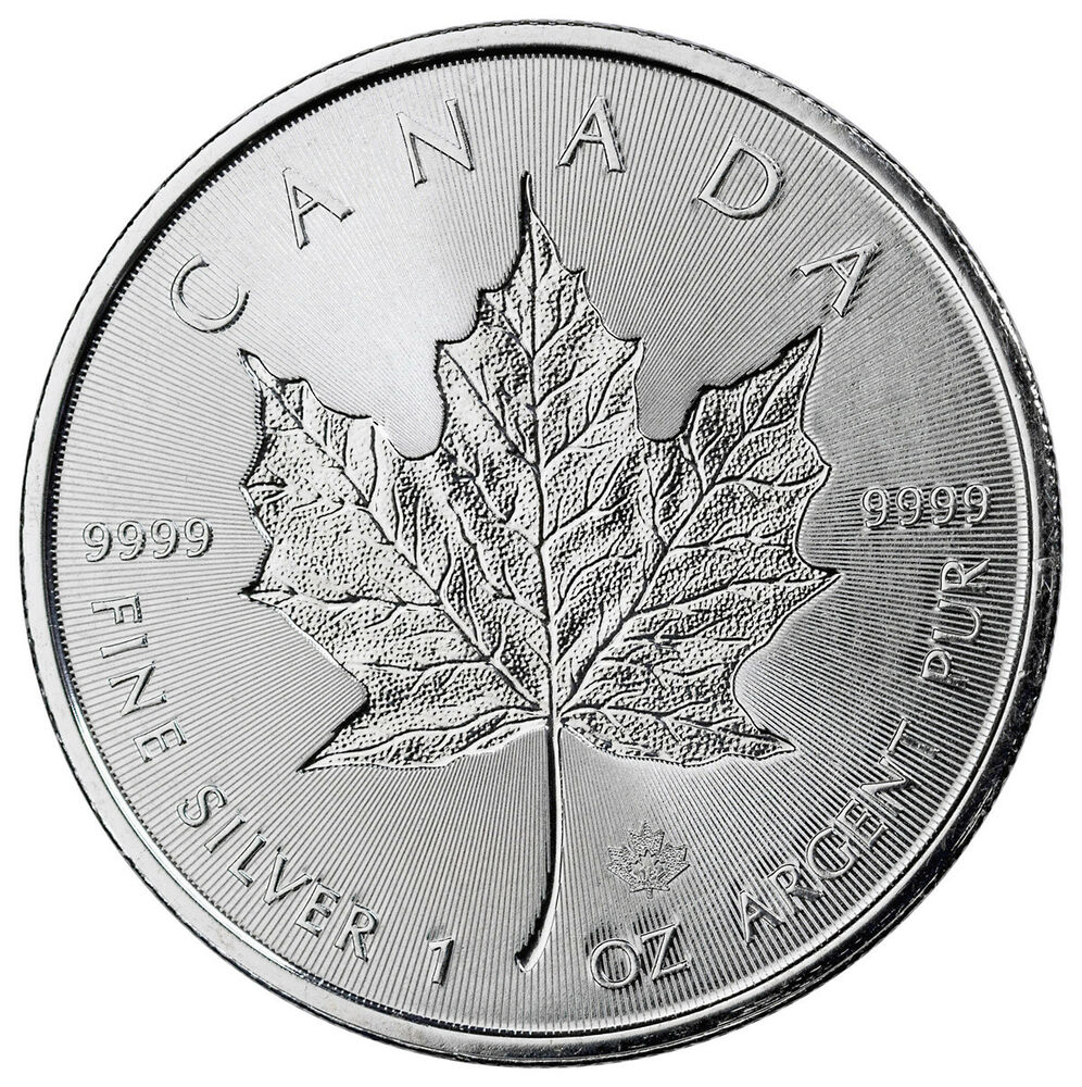 2018 Canada 1 Oz Silver Maple Leaf Incuse 5 Gem Bu Coin
