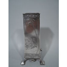 Tiffany Vase - 2978 - Early Antique Japonesque - American Sterling Silver