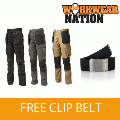 Apache Holster Knee PAD Trouser Workwear Work Cordura APKHT - FREE Knee PAD