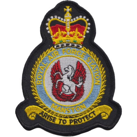 img-RAF Manston Royal Air Force MOD Crest Embroidered Patch