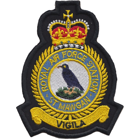 img-RAF St Mawgan Royal Air Force MOD Crest Embroidered Patch
