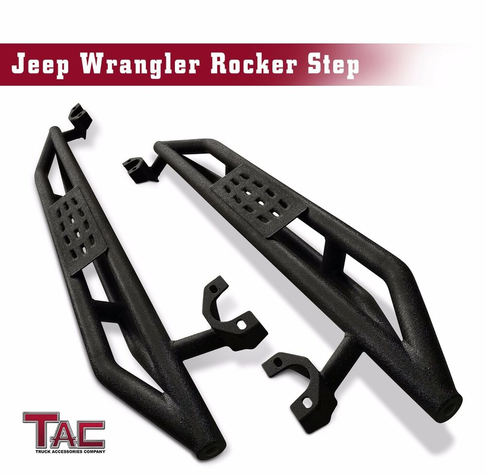 Textured Off-Road Armor Side Step Nerf Bar For 2007-2018