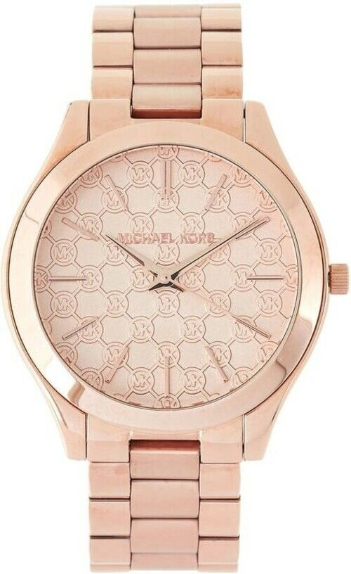 2cd8dc7a426f Details about Michael Kors Slim Runway MK3336 Rose Gold Tone With Rose Gold  Dial Wrist Watch