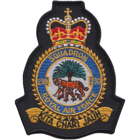 img-No. 230 Squadron Royal Air Force RAF Crest MOD Embroidered Patch