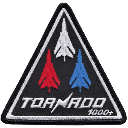 img-Royal Air Force RAF Panavia Tornado 1000 Hours Triangle Embroidered Patch