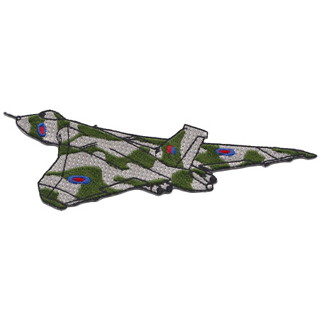 img-Royal Air Force RAF Hawker Siddeley Vulcan Shaped Embroidered Patch