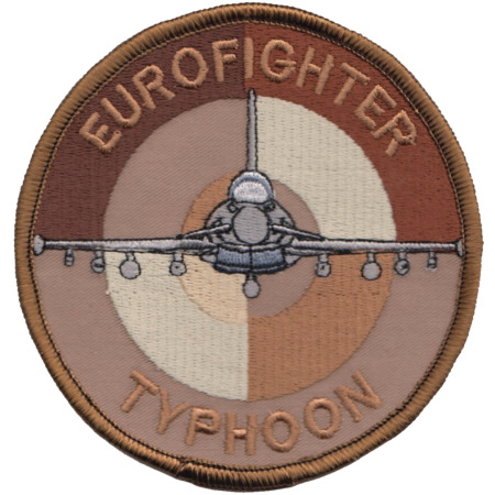 img-Royal Air Force RAF Eurofighter Typhoon Users Roundel Desert Embroidered Patch