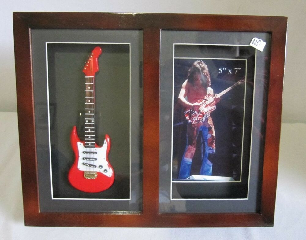 Red Mini Electric Guitar Framed Shadow Box Picture Frame 5