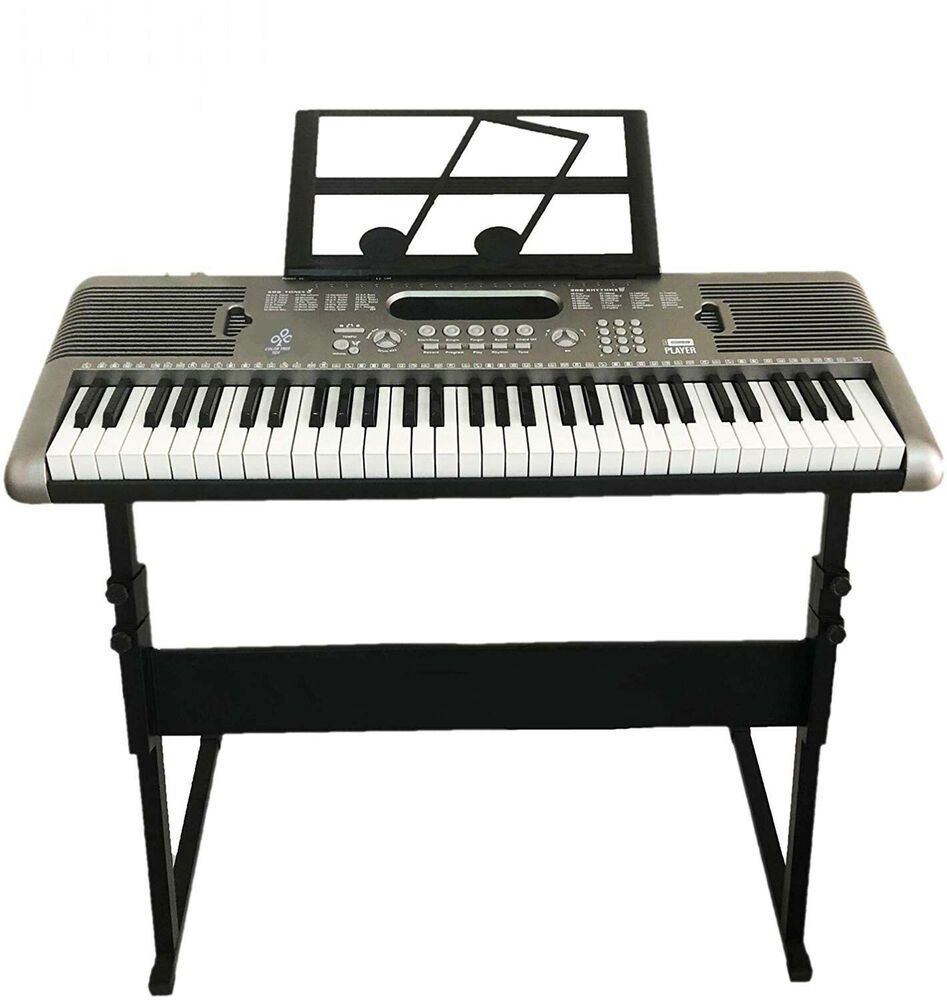 Black Piano Bench Pu Leather Storage Padded Double Duet