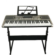 Black Piano Bench PU Leather Storage Padded Double Duet Keyboard Seat