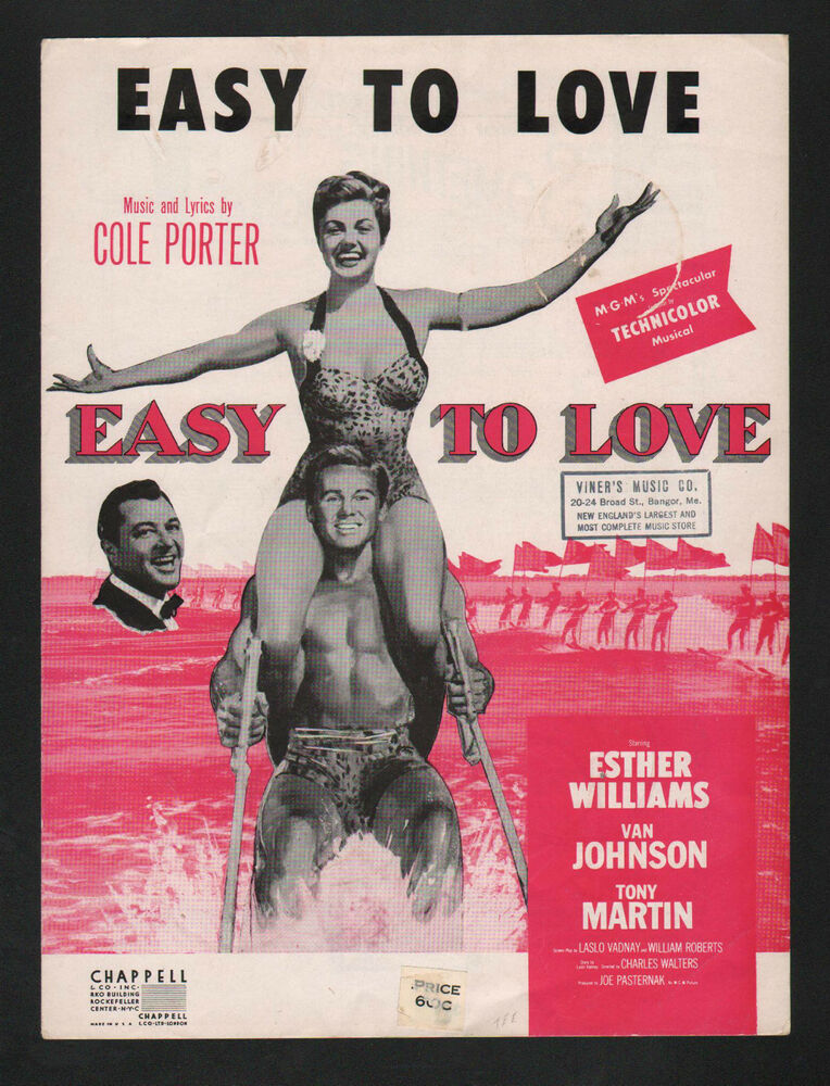 Easy To Love 1936 Esther Williams in Easy To Love Sheet Music | eBay