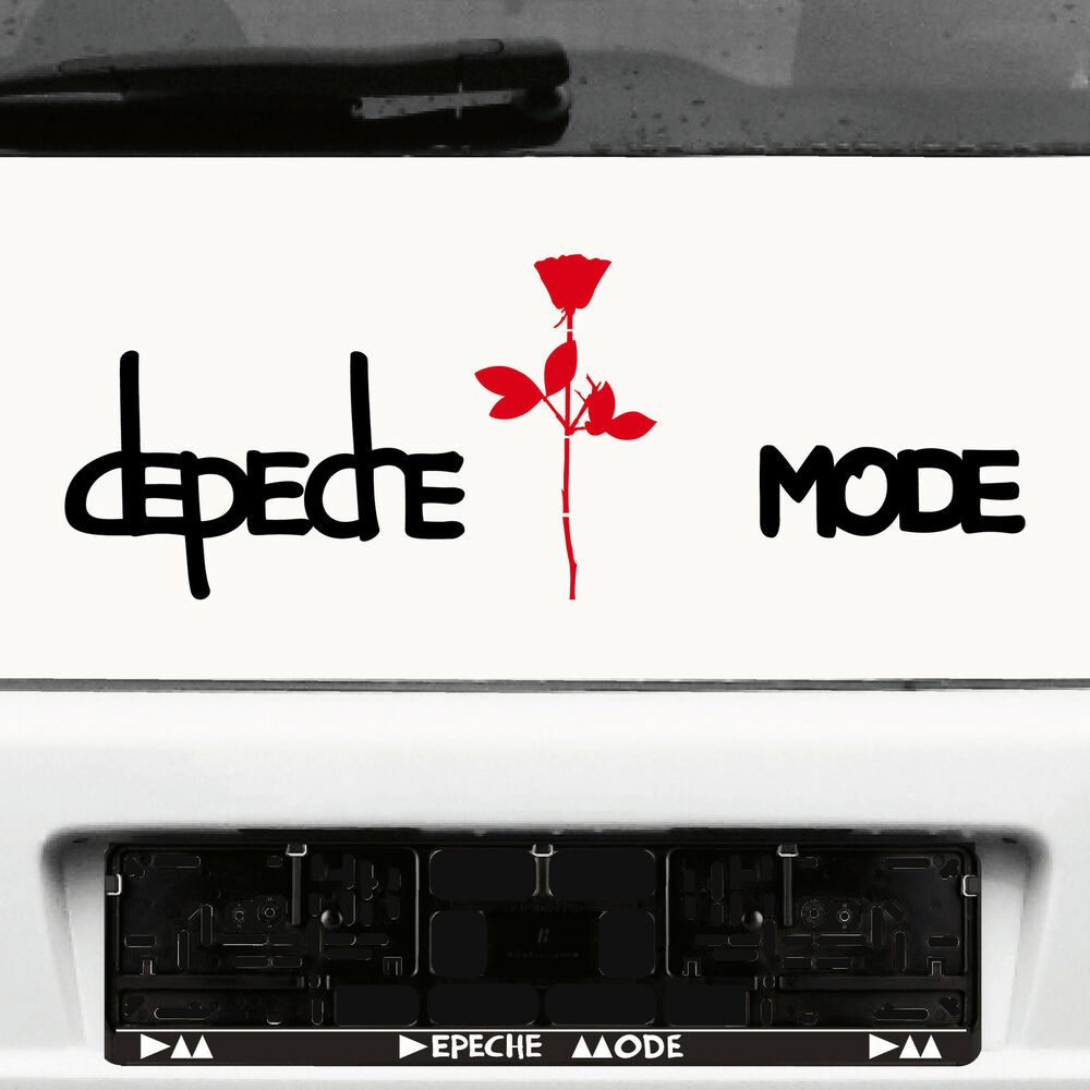 DEPECHE MODE EXCITER Lettering Black+Rose Red Car Sticker Decorative ...