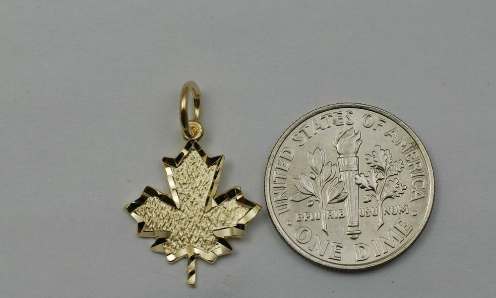 leaf pendant maple store silver