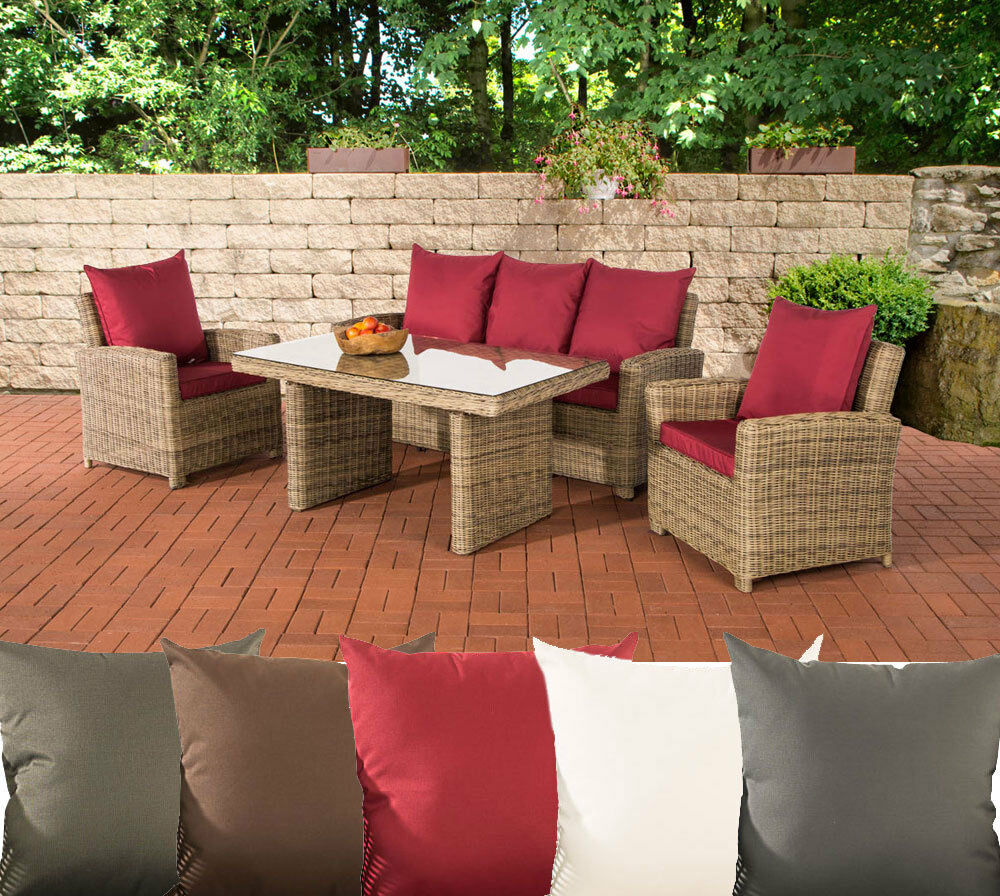 gartengarnitur fisolo sitzgruppe garten m bel tisch stuhlset lounge polyrattan ebay. Black Bedroom Furniture Sets. Home Design Ideas