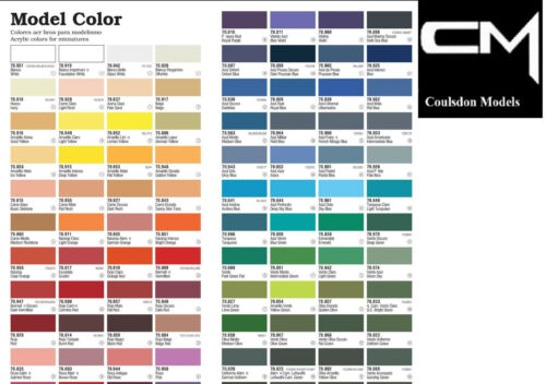Vallejo Model Color Paints Choose From Full Range Of 17ml Acrylics & More